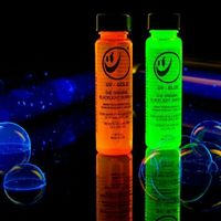 Tekno Black Light Bubbles! glow party?