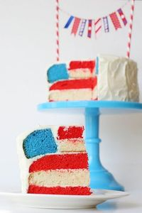 Flag Cake -- beautiful!