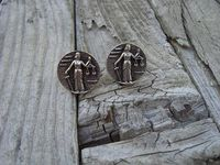 Sterling silver cufflinks for the lawyer.