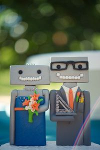 robot cake toppers