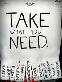 Take What You Need ...