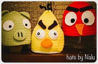 Crochet Angry Birds Hat Youg Child or Adult by DosCraftySisters, $20.00