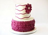 Ruffle Petal cake by ~ShamsD~, via Flickr