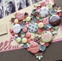 Close up of the heart on Melinda's layout.