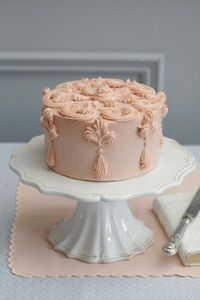 pale pink wedding cake