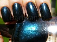 Blackend Bleu nail polish by Barielle