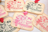 Valentine Tags Gift Tags Favor Tags To My Valentine