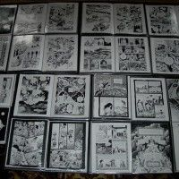 "Process gallery from Craig Thompson's upcoming comic ""Habibi."""
