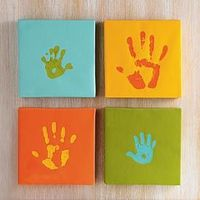 canvas handprints would be so cute in baby nursery colors!