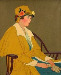 Gertrude S Spaller - Woman Seated (love this yellow)