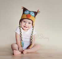 CROCHET PATTERN - Crazy OWL Ear Flap Hat from crazysocks830 on #Etsy, #handmade, #Childrens, #hats, #accessories