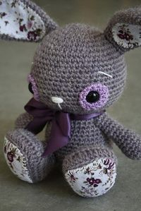 Adorable crochet bunny.