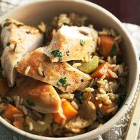 Chicken and Roasted Vegetable Rice and 25 other one-dish recipes