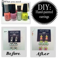 Colouring costume jewellery with nail polish