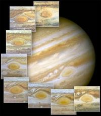 Hubble Views Ancient Storm on Jupiter. When 17th-century astronomers first turned their telescopes to Jupiter, they noted a conspicuous reddish spot on the giant planet. This Great Red Spot is still present in Jupiter's atmosphere, more than 300 yea...