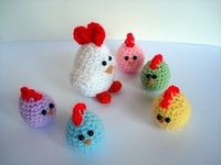 Chicken with chicks amigurumi