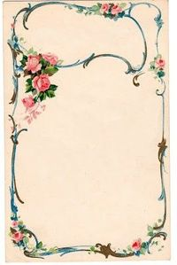 French frame - Pink roses
