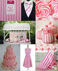 Pink and White Candy Stripe Wedding Ideas from The Wedding Community
