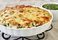 chicken spinach tortilla pie
