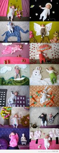 Sleeping Baby Photo Shoot via 9GAG.comThis is such a fun idea Could definite...